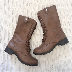 Charlotte Russe Lace-Up Boots